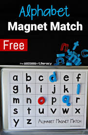 printable alphabet recognition games alphabet magnet match the letters of literacy