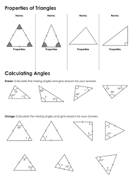 finding missing angles in triangles worksheet ks3 angles in triangles by fintansgirl teaching resources tes