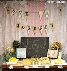 travel themed table decorations how to throw a travel themed bridal shower on a budget