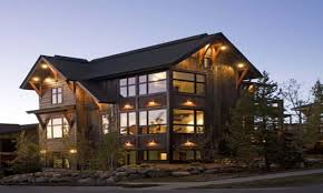 gorgeous small cabin home plan with open living floor plan rustic