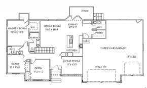 single story open floor plans ranch house floor plans with open