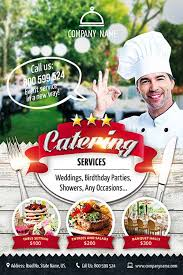 chef de cuisine catering services catering service free flyer template vita poster