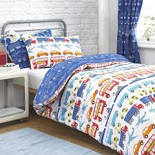 Cars Duvet Cover Stylish Multicolor Cars And Trucks Embroidery Duvet Covers For