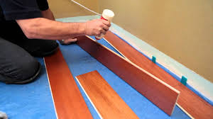 How To Install Laminate Flooring Over Plywood How To Install A Hardwood Floating Floor Youtube