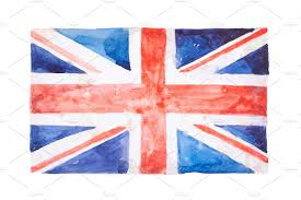 Beitish Flag Watercolor British Flag Objects Creative Market