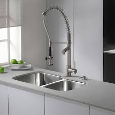 all metal kitchen faucet end of bed tags modern bedroom bench small galley