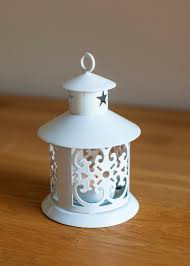 metal tea light holders white metal lantern tea light holder owlchemy