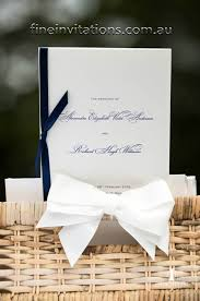 Wedding Program Booklets Order Of Service Booklets Fine Invitations Sydney