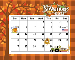 free printable november 2017 calendar happy thanksgiving free
