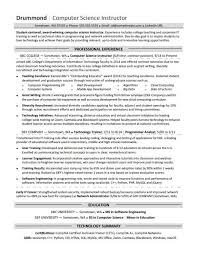 computer science resume computer science resume sle