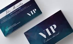 polygon blue vip card front and back template vector vector card