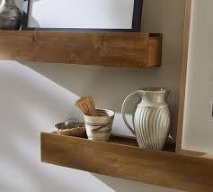 Wood Gallery Shelves by Rustic Wood Ledges Pottery Barn