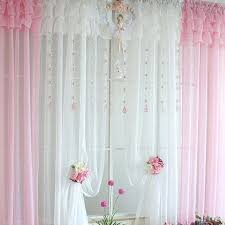 ruffled sheer curtains elegant style bedroom decoration with