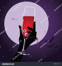 halloween drink elegant glass blood eyeballs stock vector 83368558