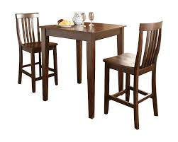charlton home pittman 3 piece pub table set with tapered leg table