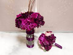 Sangria Colored Wedding Decorations Bridesmaid Bouquets For Sangria Dresses Sangria Wedding Bouquets
