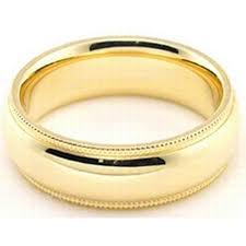 milgrain wedding band 18k yellow gold 6mm comfort fit milgrain wedding band heavy weight