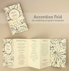 easy wedding program template accordian fold diy wedding program