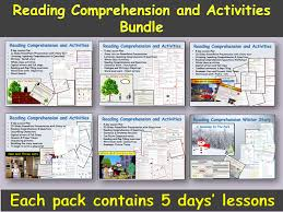 reading comprehension text sentence and word work presentation