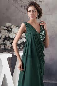 dark green chiffon v neck prom gown evening formal dress