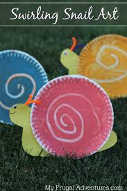 easy children u0027s craft swirling snail art my frugal adventures