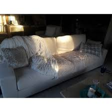 lionel white cotton down filled extra long deep seat sofa by