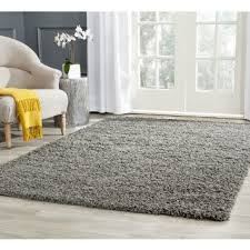 Square Wool Rug Safavieh Athens Shag Collection Sga119c Dark Grey Area Rug 8 Feet