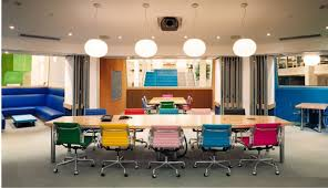 Swivel Chairs Design Ideas Interior Cheery Meeting Room With Colorful Swivel Chairs And