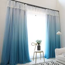 Blue Window Curtains Gigizaza Change Color Gradient Blue Window Curtain High Black Out