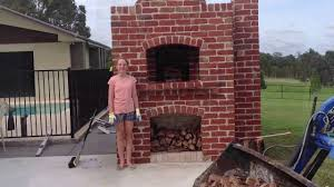 building a wood fired pizza oven red brick pizza oven youtube