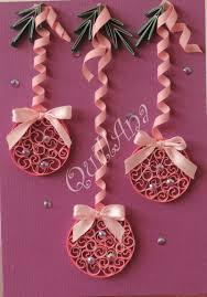 quilled ornaments for a card or scrapbook layout
