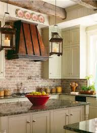 kitchen with brick backsplash brick backsplashes rustic and of charm
