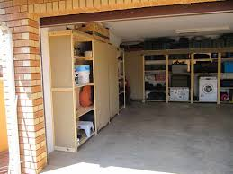 efficient garage shelves for everybody cool brick wall huge