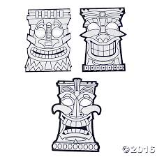 african mask coloring pages printable tiki mask coloring pages kids coloring