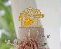aliexpress com buy bride u0026 groom happy wedding ring cake topper