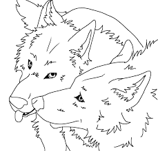 angry wolf face drawing draw angry wolf anime