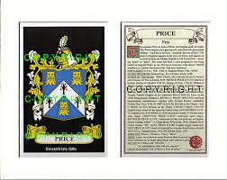 heraldic mounts price family crest and history