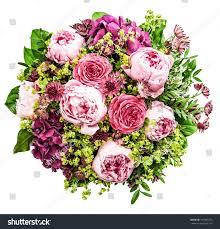 bouquet beautiful pink peony on white stock photo 147807773