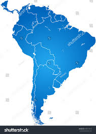 Map Of Columbia South America by Map South America Stock Vector 298213610 Shutterstock