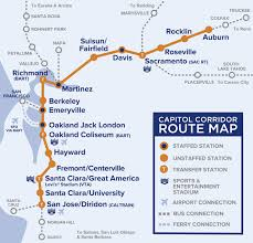 Map Of Bart Stations by Capitol Corridor Map Adriftskateshop