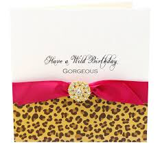 animal print personalised birthday card by made with love designs