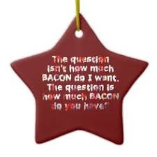 merry christmas bacon print ceramic ornament bacon and ornament
