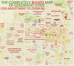 Maps Of Colorado by The Completely Biased Map Of Csu Westword