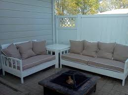Ana White Simple White Outdoor Sofa And Loveseat DIY Projects - White outdoor sofa