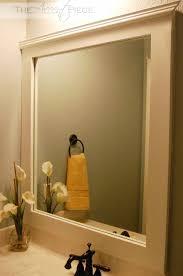 bathroom mirror trim ideas bathroom mirror frame ideas pinterest photogiraffe me