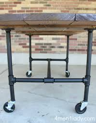 wheels for kitchen island via 4 men 1 lady diy plumbing pipe table tutorial i u0027m so doing