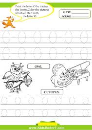 Writing The Alphabet Worksheets Kids Under 7 Alphabet Worksheets Trace And Print Letter O
