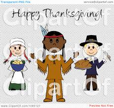american thanksgiving clipart happy thanksgiving stick pilgrims and native american