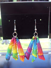 duct earrings rainbow duct 3 point earrings duck duct