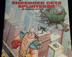 1988 unused tmnt coloring book 1st print uncolored teenage